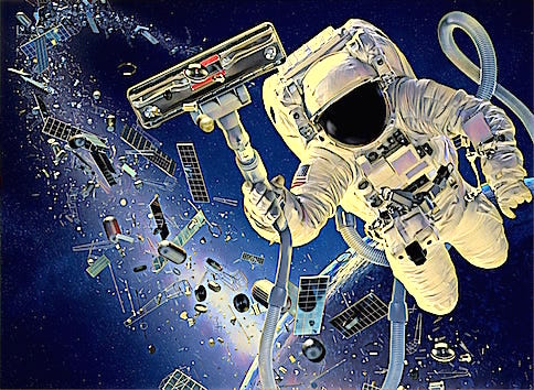 removing space junk