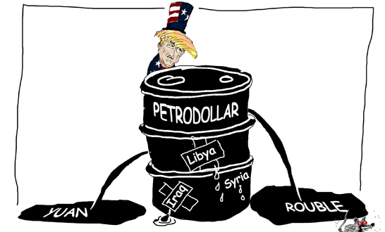 Image result for us sanctions and protecting petrodollar