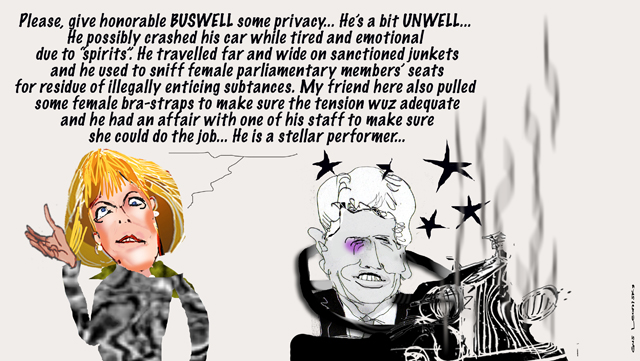 buswell is not well...