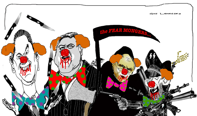 sad nasty clowns...
