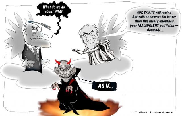 malcolm comes to pollies heaven...
