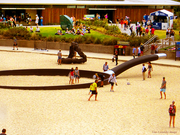 frying pan - sculpture by the sea, Sydney...