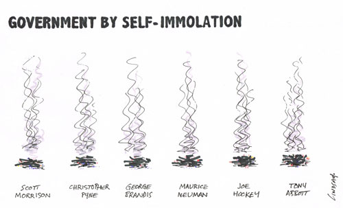 government by self-immolation .....