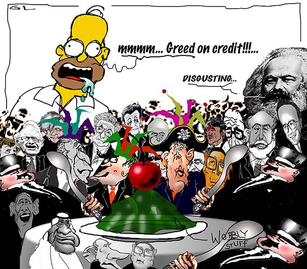 greed on credit .....