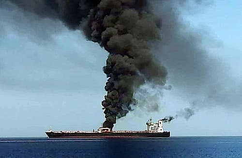 "tanker ""ablaze"""