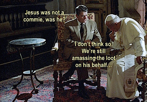 reagan and pope