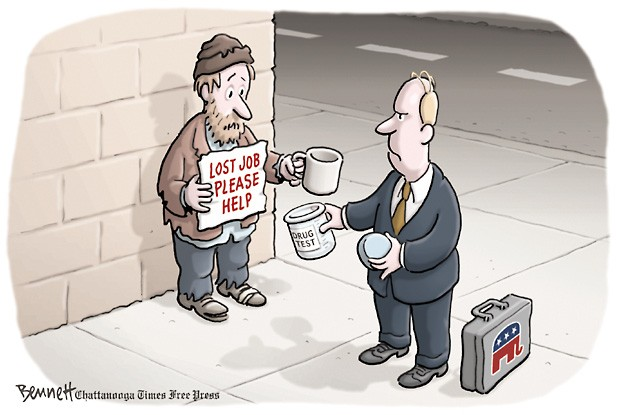 piss-testing the poor ...