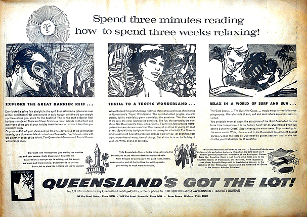 queensland tourist advert 1963