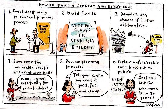 stadiums tedium...