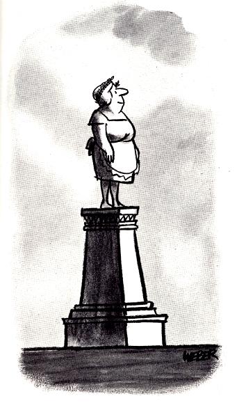statue of mum...