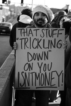 trickle down ...