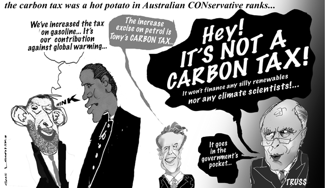 it's not a carbon tax...