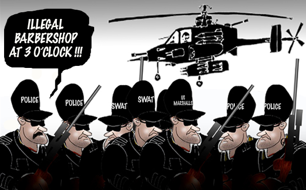 militarisation of the us police...
